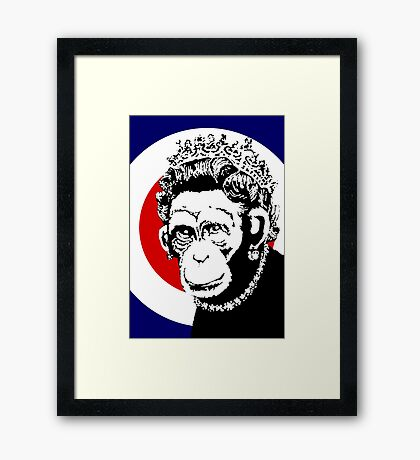 Banksy – Monkey Queen Framed Print