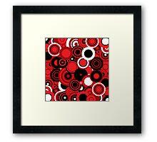 Circledelic - red/white/black Framed Print
