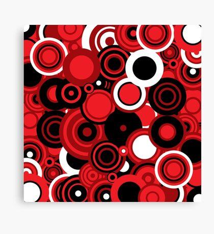 Circledelic - red/white/black Canvas Print
