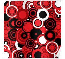 Circledelic - red/white/black Poster
