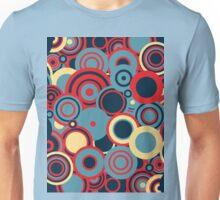 Circledelic - blue/red/cream Unisex T-Shirt