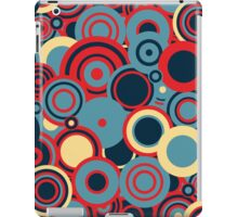 Circledelic - blue/red/cream iPad Case/Skin