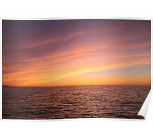 Sunset over Lake Ontario Poster