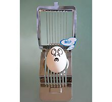 Eggbert is in Trouble... Photographic Print