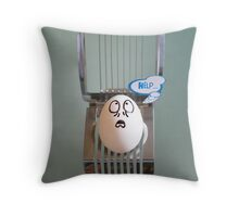 Eggbert is in Trouble... Throw Pillow