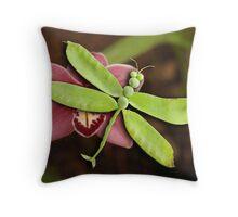 Dragonpea-fly Throw Pillow