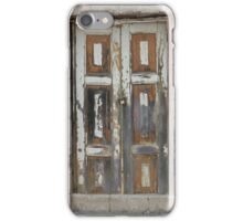White Weathered Door in a Wall iPhone Case/Skin