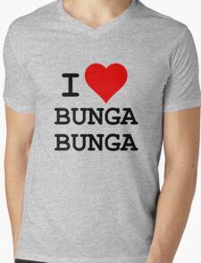 I Love BUNGA BUNGA Mens V-Neck T-Shirt