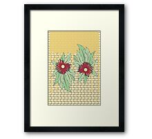 growing flowers on concrete Framed Print