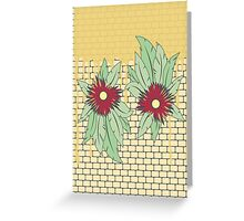 growing flowers on concrete Greeting Card