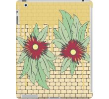 growing flowers on concrete iPad Case/Skin
