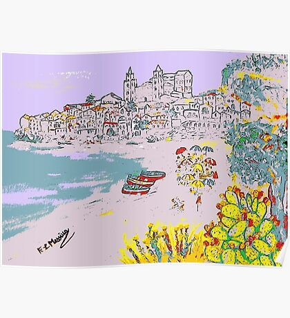 A view of Cefalu' Poster
