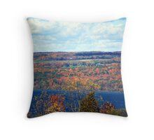 Autumn in the Finger Lakes Throw Pillow