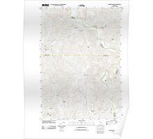 USGS Topo Map Oregon Muddy Ranch 20110825 TM Poster