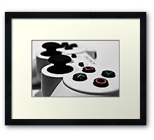 White Playstation Controller Framed Print
