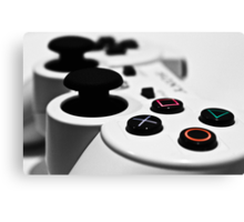 White Playstation Controller Canvas Print