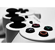 White Playstation Controller Photographic Print