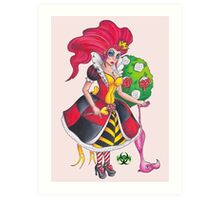 Pin-up Queen Of Hearts Art Print