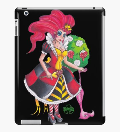 Pin-up Queen Of Hearts iPad Case/Skin