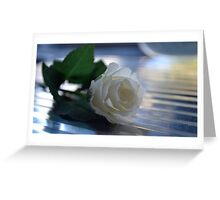 Snow rose Greeting Card