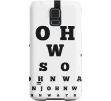 John Watson T-Shirt Samsung Galaxy Case/Skin