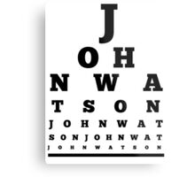 John Watson T-Shirt Metal Print