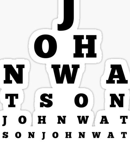John Watson T-Shirt Sticker