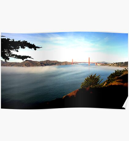 Golden Gate and some fog Poster