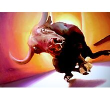 Moo!! Oils on Canvas Photographic Print