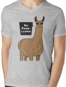 No Prob-llama Mens V-Neck T-Shirt