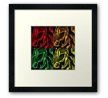 Four Hot Peppers II Framed Print