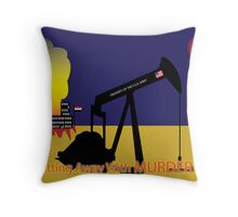 OilWar Throw Pillow