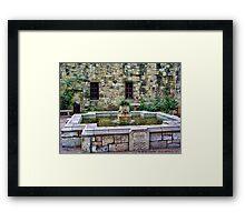 Davy Crockett Fountain - The Alamo Framed Print