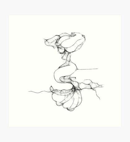 Lonely Mermaid - Scribbler Art Print