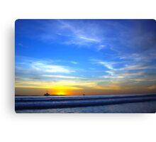 Blue Sea and Sky - Huntington Beach CA Canvas Print