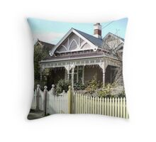 Early Victorian cottage - Williamstown. Throw Pillow