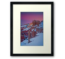 Bryce Sunset in Snow Framed Print