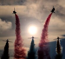 RAF Red Arrows Rollbacks by captureasecond