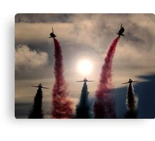 RAF Red Arrows Rollbacks Canvas Print