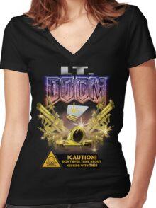 Lt. Doom - Golden Army Women's Fitted V-Neck T-Shirt