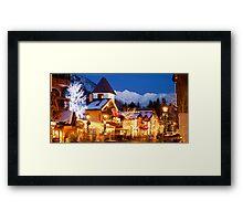 Vail Village, Christmas 2010-2011 Framed Print