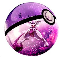 Mewtwo Pokeball by alee7spain