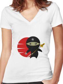 NINJA STAR Women's Fitted V-Neck T-Shirt