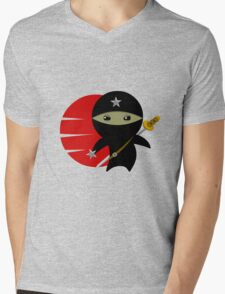 NINJA STAR Mens V-Neck T-Shirt