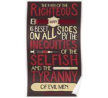 Ezekiel 25:17 Poster