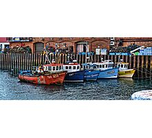 Crab Boats, Scarborough. Photographic Print