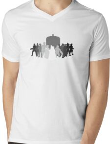 enemies of the doctor Mens V-Neck T-Shirt