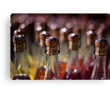 army of champagne Canvas Print