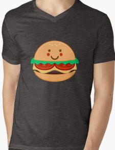BURGER Mens V-Neck T-Shirt