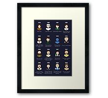 The Faces of Robin Williams Framed Print